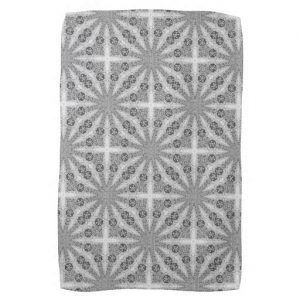 Silver Shine Geometry Pattern Kitchen Tea Cloth