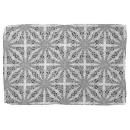 Silver Shine Geometry Pattern Kitchen Tea Cloth