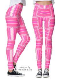 Funky Hot Pink Stripe Leggings | Webgrrl