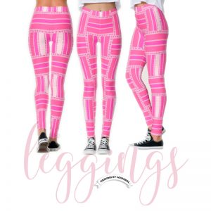 Funky Hot Pink Stripe Pattern Leggings | Webgrrl