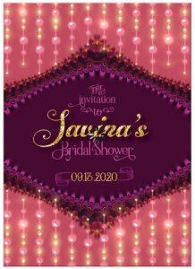 Bridal Shower Invitation | Pink Coral Berry Fractal Lace