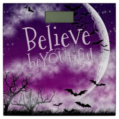 Halloween Moon Believe you are beYOUtiful Bathroom Scale