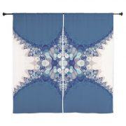 Blue Bahai Curtains