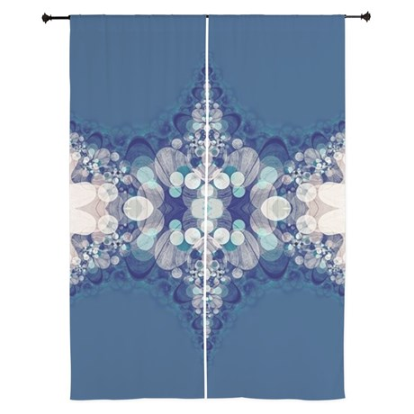 "Blue Bahai Curtains | 84"" by Webgrrl | Cafepress"