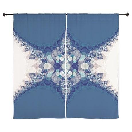 Blue Bahai Curtains