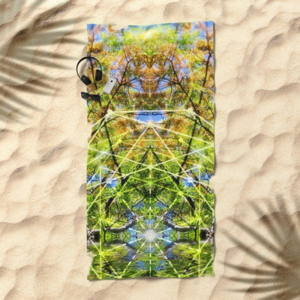 GeoBotanica Beach Towel | by Webgrrl