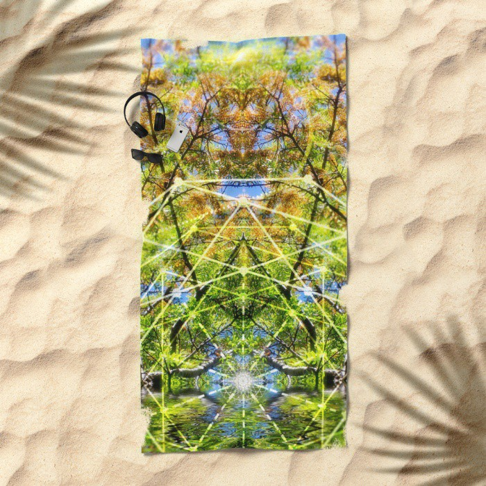 GeoBotanica Beach Towel   by Webgrrl
