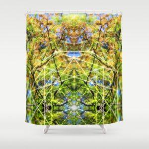 GeoBotanica Shower Curtain   by Webgrrl