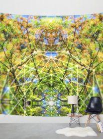 GeoBotanica Wall Tapestry | by Webgrrl