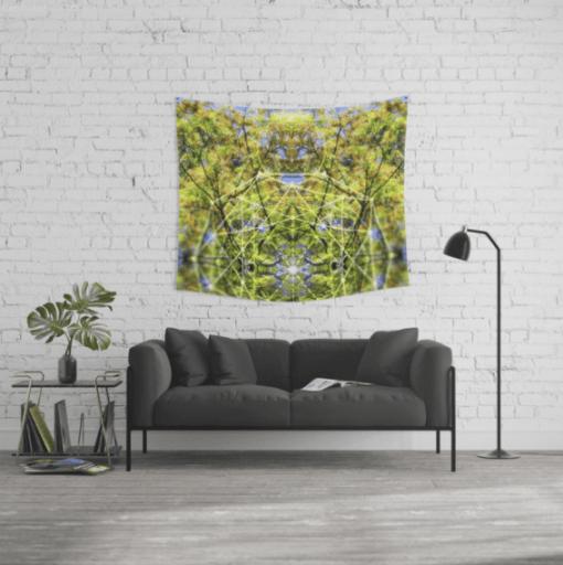 Wall Tapestry - GeoBotanica V2 by Webgrrl