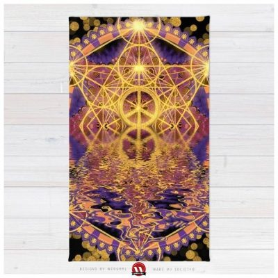 Geometry Peace Reflections Floor Rug by Webgrrl