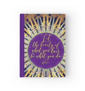 Love what you do quote inspire artistry hardcover Journal