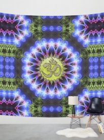 om-shanti-fractal-geometry-wall hanging / tapestry