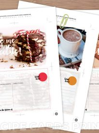 Chocolate Recipe Cards Free Printable | Webgrrl.biz