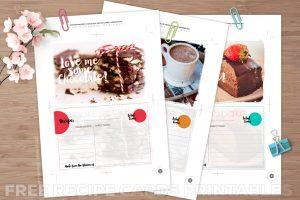 Chocolate Recipe Cards Free Printable | Webgrrl.biz