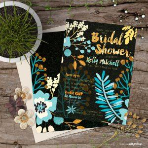 Bridal Shower | Warm Earth Floral Invitation