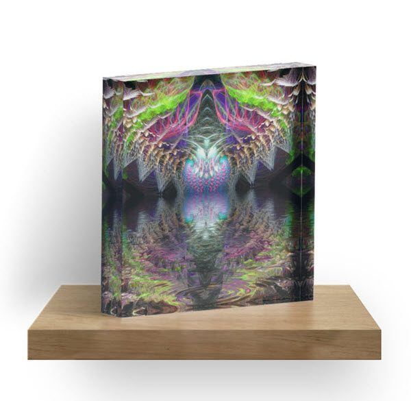 Psydimensional Psychedelic trance inspired design made with fractals