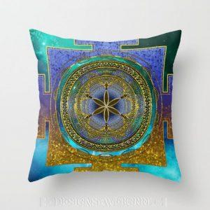 Yantra Mantra Mandala V1  by Webgrrl-cushions-s6