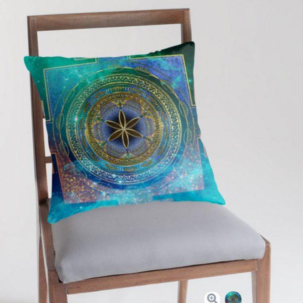 Yantra Mandala Magical Sky Cushions