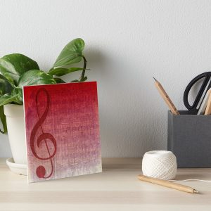 Clef Music Symbol | Vintage Grunge Music Sheet Gallery Boards