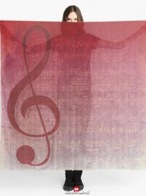 Universal music, clef symbol, digital art mix with vintage grunge music sheet
