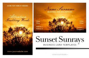 Sunset Sunrays Customizable Business Card