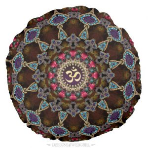 vintage_bohemian_spiritual_om_yoga_round_cushion