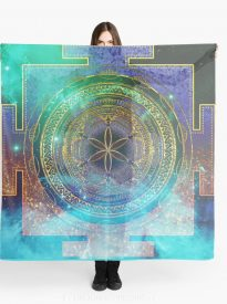Yantra Mandala Magical Sky Scarves
