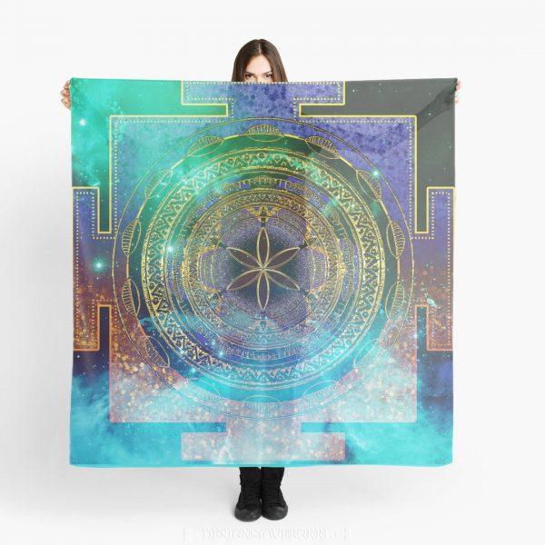 Yantra Mandala Magical Sky Scarves