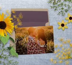 Save the Date Photo Card | Gold Elegance Script by Webgrrl