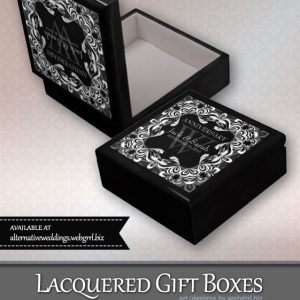 Black+White Lace Wedding Anniversary Gift Box