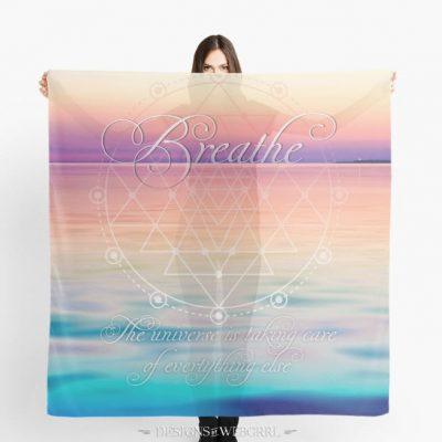 'Breathe - Life Reminders' Scarf by webgrrl