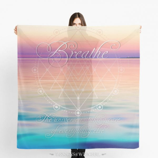 'Breathe - Life Reminders' Scarf by webgrrl