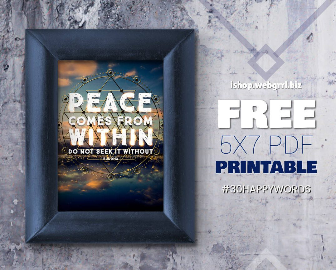 13. #30HappyWords ❤ Peace