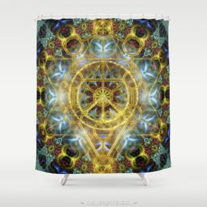 sacred-geometry-fractal-mandala-shower-curtains