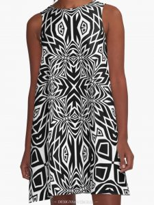 Black & White Tribal | Leyana S4 A-Line Dresses