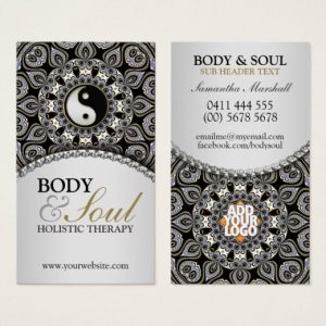 Arabesque New Age Holistic Business Card by Webgrrl | onlinecards