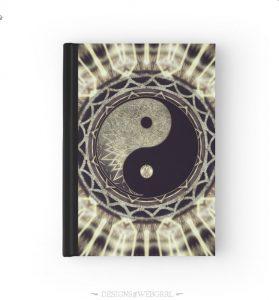 Mandala YinYang Balance Life Geometry Hardcover Journals