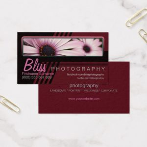 Red Black Photography w/ Photo template Business Card by Webgrrl | onlinecards