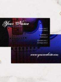 Sleek Electric Guitar Musician Business card by Webgrrl | onlinecards