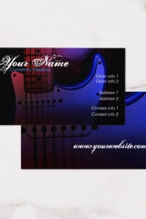 Sleek Electric Guitar Musician Business card by Webgrrl | onlinecards