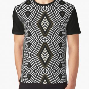 tribal-diamond-black-white-gold-graphic-shirt-wg