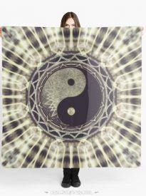 Mandala YinYang Balance Life Geometry Scarves