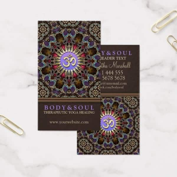 Alternative eastern om yoga business cards zazzle alternative eastern om yoga business cards reheart Image collections