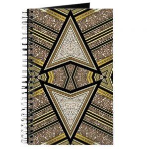 Art Deco Glitter Arrow Spiral Notebook | Webgrrl