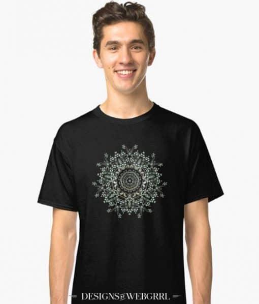 Delicate Nature Mandala T-Shirt by Webgrrl