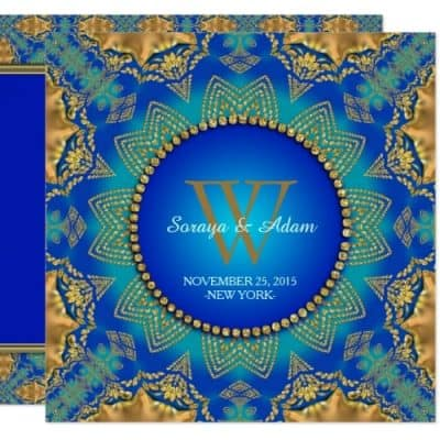 eastern_blue_gold_satin_lace_monogram_invitation-1