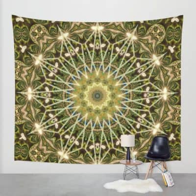 Geometric Forest Mandala Wall Tapestry | Webgrrl.biz