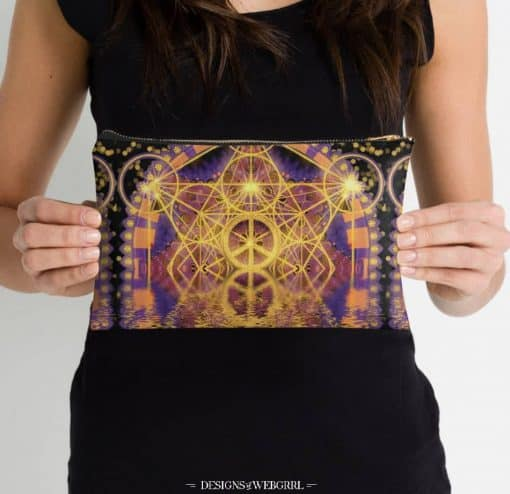 Geometry Peace Reflection Studio Pouches