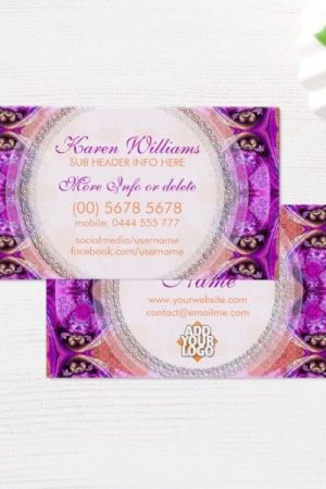 Purple Fuchsia Healing New Age Business Card by onlinecards